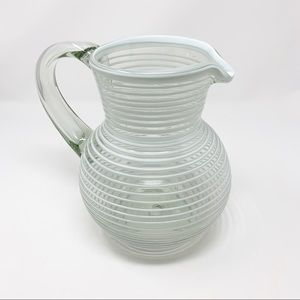 Globe-In Handmade Striped Iced Tea Pitcher Server